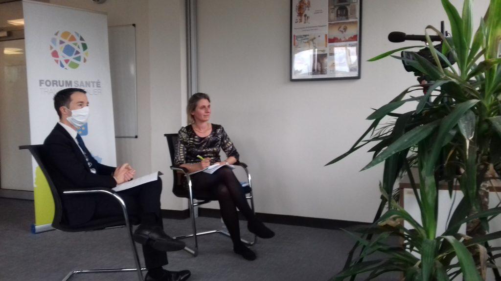 Nicolas Villenet et Agnès Chapelle, face à la caméra lors du 3ème webinaire de ce Forum numérique.